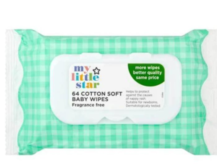 In Stock - 12 Packs of Fragrance Free Baby Wipes £6.99