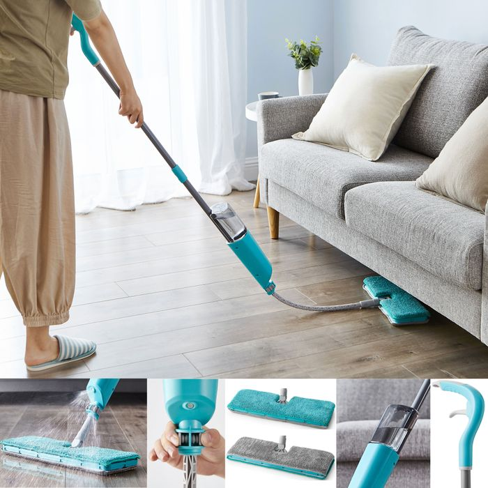 Flexible Spray Mop with Extendable Head & Double Sided Pad Wood Tiles Hard Floor