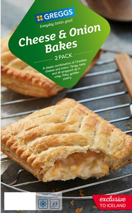 Greggs 2 Cheese & Onion Bakes 288g Just £1