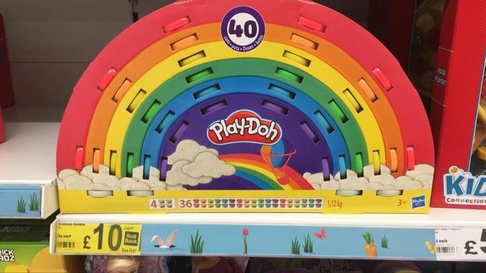 40 Tubs of Rainbow Play Doh at Asda