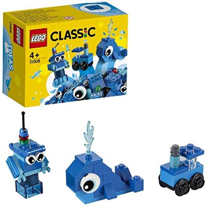LEGO 11006 Classic Creative Blue Bricks Learning Starter Set.