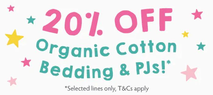 Special Offer - 20% Discount on Bedding and Pjs at Frugi