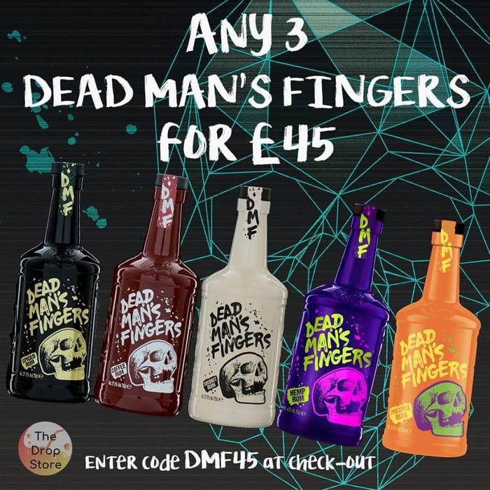 Get any 3 bottles of Dead Mans Fingers rum for only £45