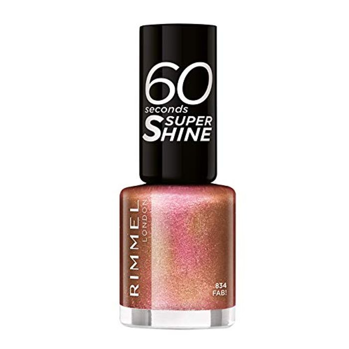 Roll over Image to Zoom in Rimmel 60 Seconds Glitter Nail Polish, Fab