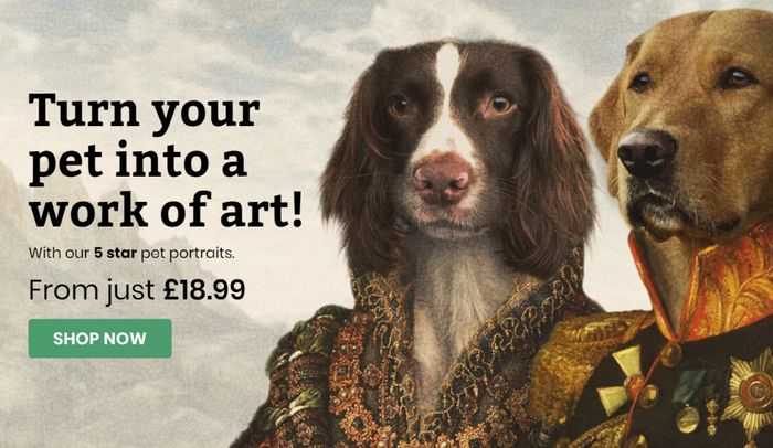 Turn Your Pet Into A Work Of Art And Save 10%