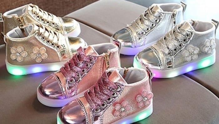 Kids' LED Light Trainers - 3 Colours & 5 Sizes