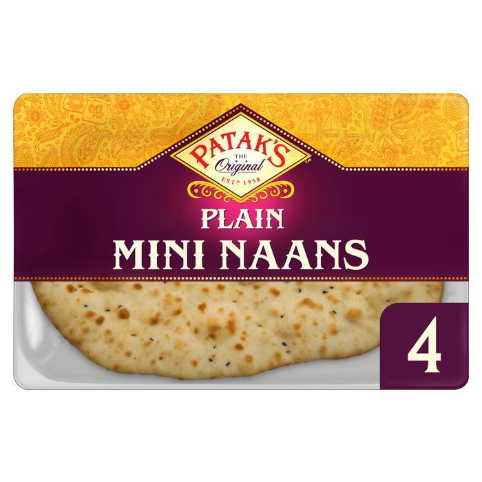 Patak's Plain Mini Naan Breads X 4 - Only £1!
