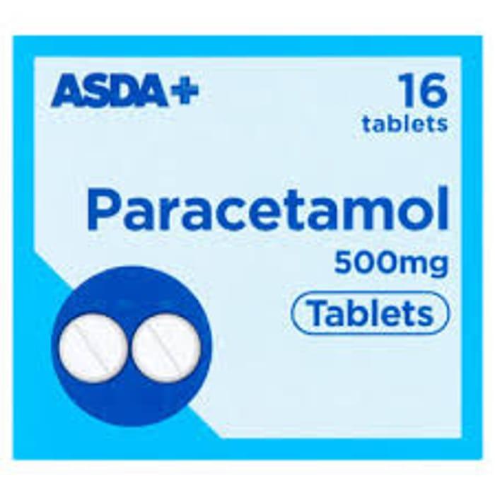 ASDA Paracetamol 500mg Tablets X 16 in STOCK