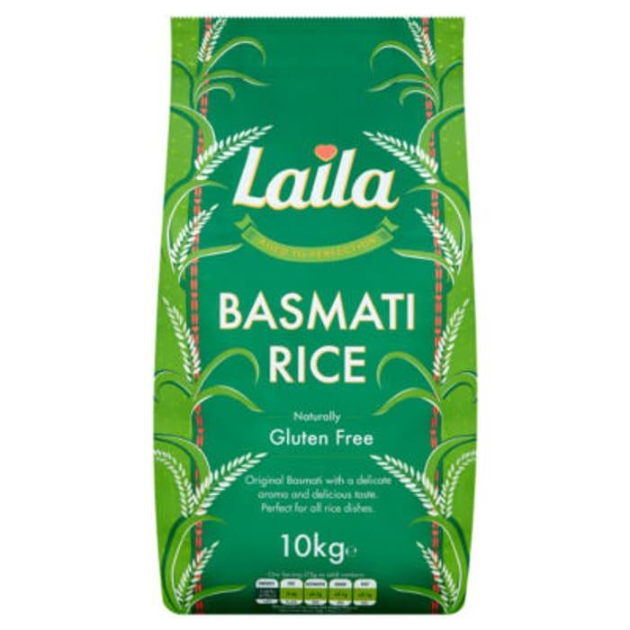 Laila Basmati Rice 10kg - Only £10!