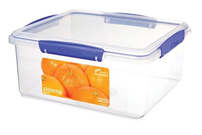 Sistema KLIP IT Food Storage Container, Blue Clips, 5 Litre Only £4