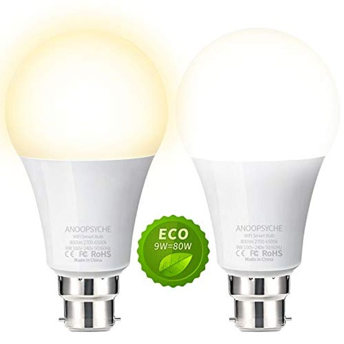DEAL STACK - WiFi Smart Bulb 2 Pack - Cheapest Ever