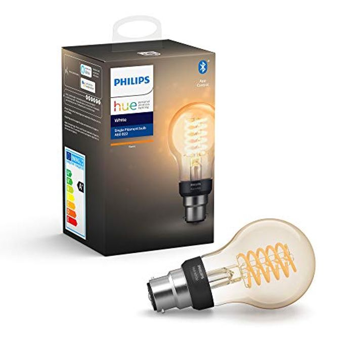 Philips Hue White Filament Single Smart LED Bulb with Bluetooth Only £14.99