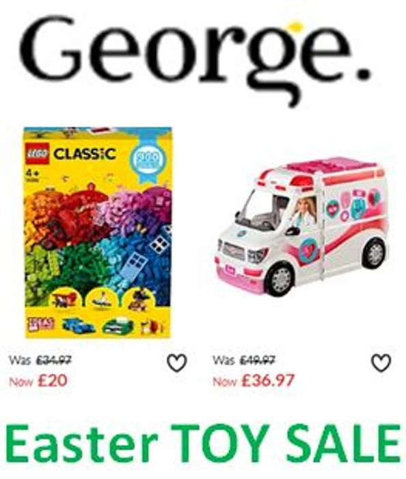 Easter TOY SALE at Asda George
