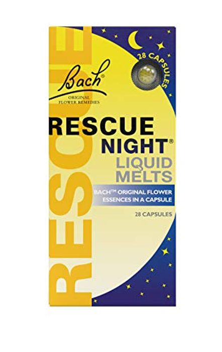 Bach RESCUE Night Liquid Melts, 28 Capsules  Natural Night's Sleep