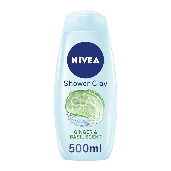 Nivea Shower Clay Fresh Ginger & Basil *500Ml HALF PRICE