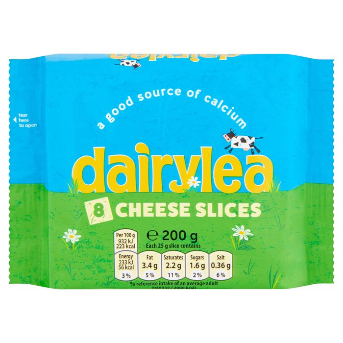 Dairylea Cheese Slices 8 Pack 200g