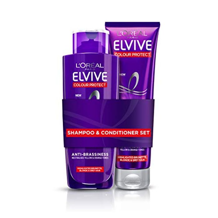 L'Oreal Elvive Colour Protect Anti-Brassiness Purple Shampoo & Conditioner
