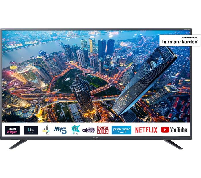 "*SAVE £70* SHARP 55"" Smart 4K Ultra HD HDR LED TV £329 with Code"