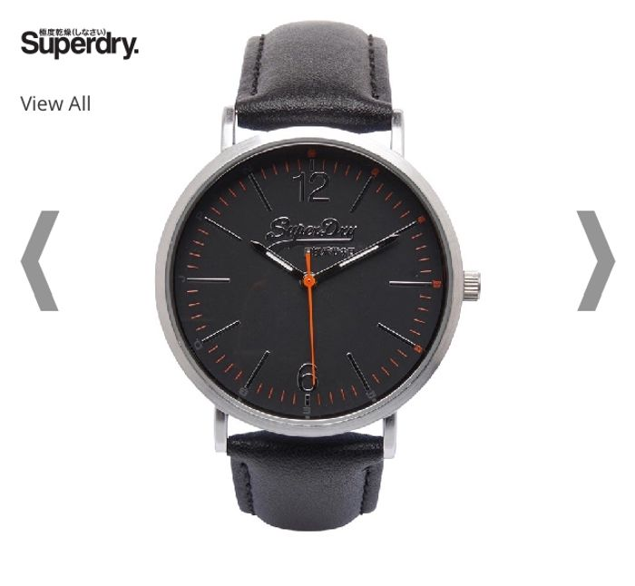 Superdry Mens Watch Black
