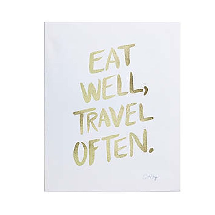 Travel Often Wall Canvas by Cat Coquillette