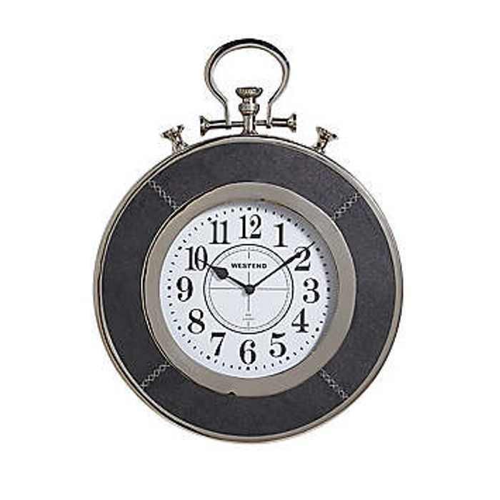 Leather Effect Stopwatch Wall Clock on Sale From £99 to £51