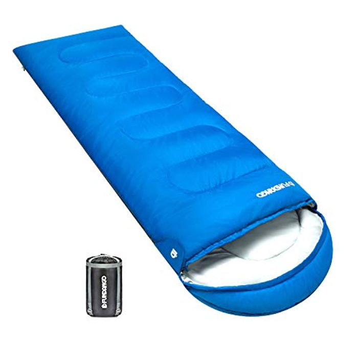 Compact Warm Sleeping Bag with Hood + Travel Pillow