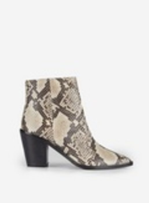 Multi Colour Snake Print Leather Ocean Boots