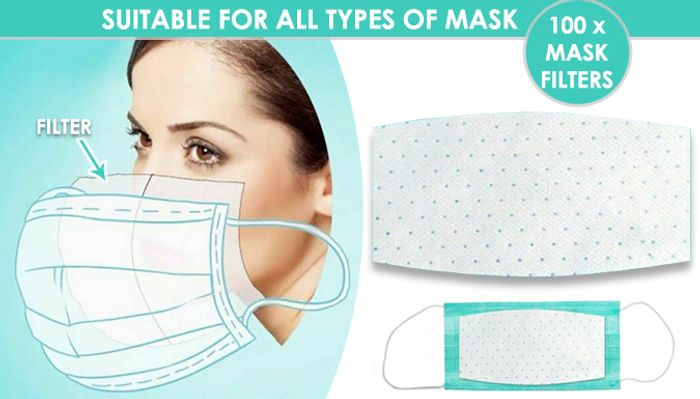 Best Price 100 X Disposable 3 Layer Face Mask Filter Pads 9 99 At Discount Experts Latestdeals Co Uk