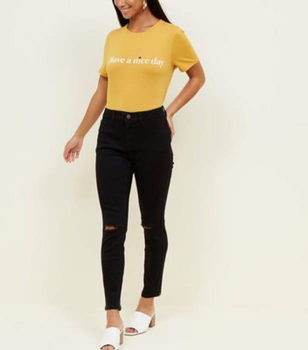 Best Price! Petite Black Skinny Ripped Knee Jenna Jeans