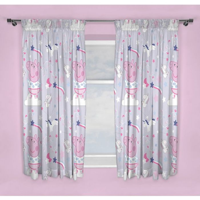 Peppa Pig Unlined Curtains - 50% Off