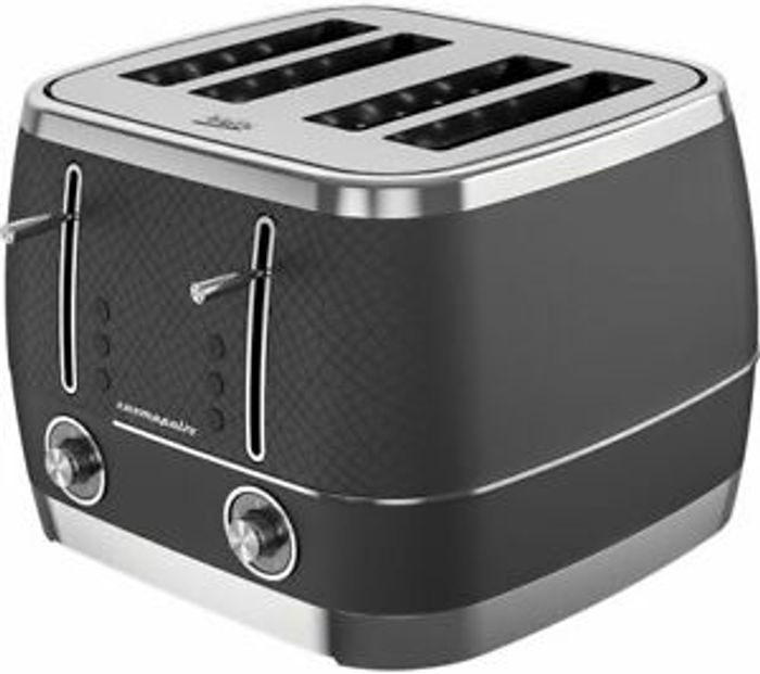 BEKO Cosmopolis TAM8402B 4-Slice Toaster - Black - Currys