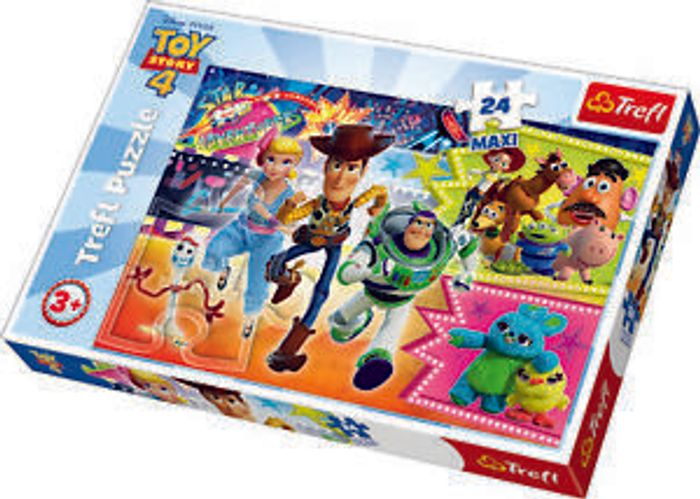 Trefl 24 Maxi Piece Kids Large Disney Toy Story 4 Adventure Fun Jigsaw Puzzle