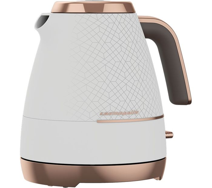 CHEAP! *SAVE £45* BEKO Cosmopolis Jug Kettle - White & Rose Gold