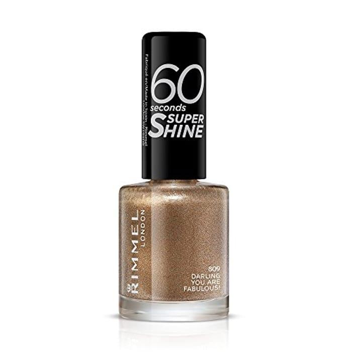 Rimmel 60 Seconds Super Shine Nail Polish - 8 Ml, Darling