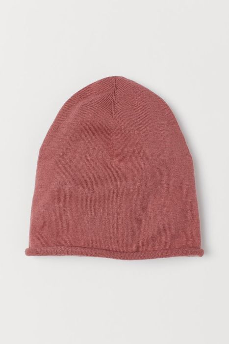 Cheap Fine-Knit Silk-Blend Hat - Dark Pink Only £3!