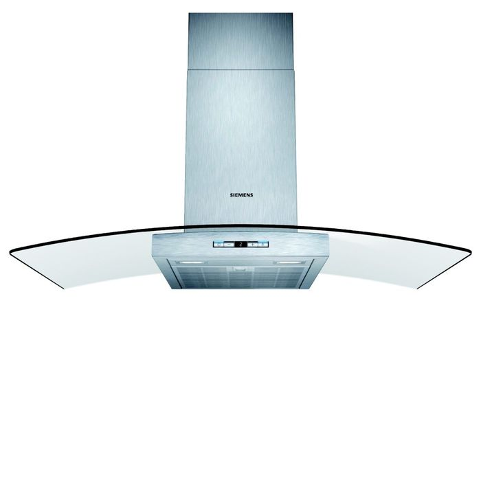 Siemens LC98GB542B IQ-500 90cm Chimney Hood with Glass Canopy STAINLESS STEEL