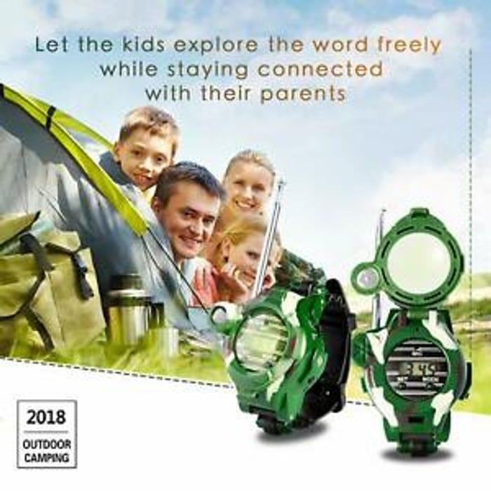 2X Walkie Talkie Army Watch Two-Way Radio Compass Interphone Kids Game