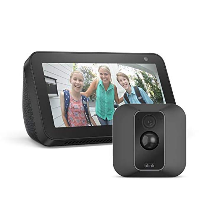 Best Price! Blink XT2 1-Camera System + Echo Show 5, Black, Works with Alexa