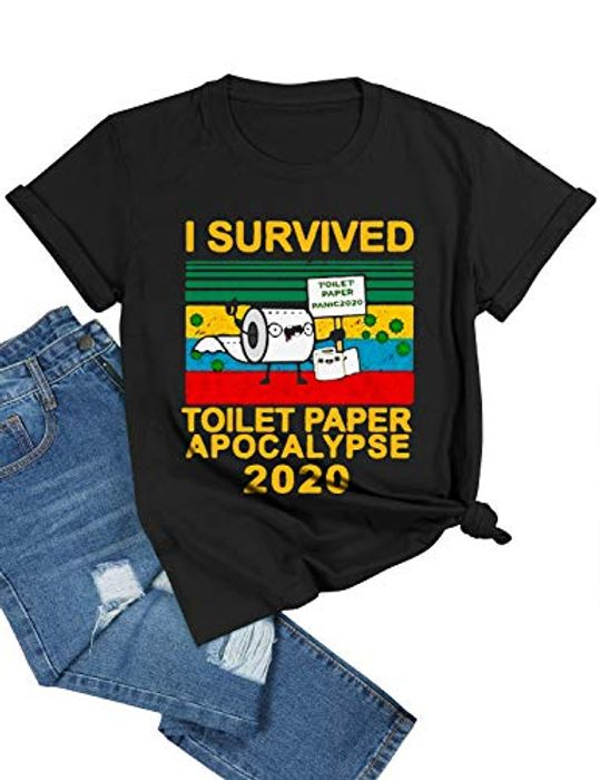 I Survived Toilet Paper Apocalypse 2020 Funny T-Shirt