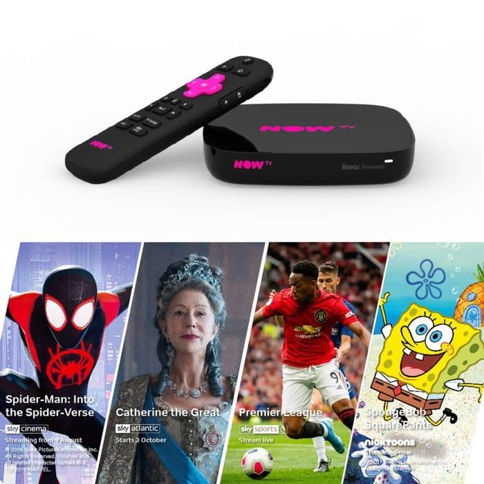 CHEAP! NOW TV Smart Box 1 Month Entertainment, Kids & Sky Sports Day Pass