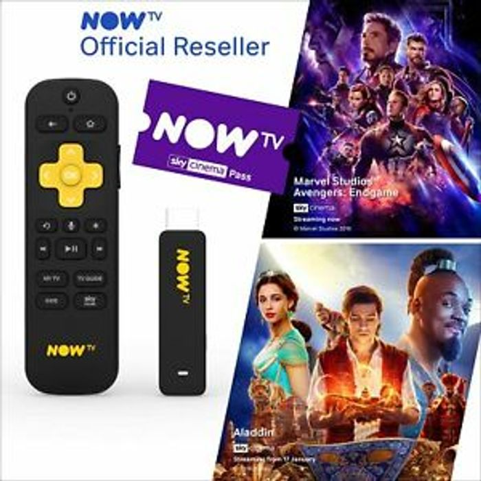 Best Price! NOW TV Smart Stick with 1 Month Sky Cinema Pass PRE-INSTALLED