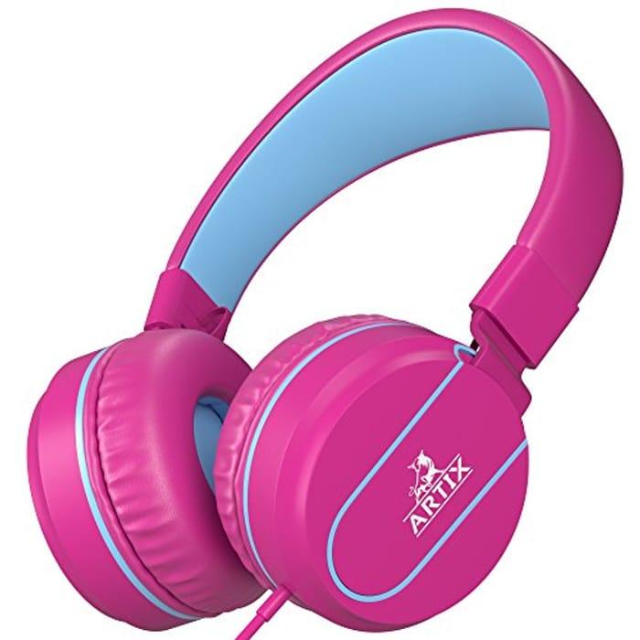 Artix Foldable On-Ear Adjustable Tangle-Free Wired Headphones