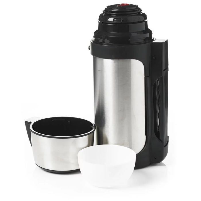 Wilko 1.2L Stainless Steel Jumbo Flask