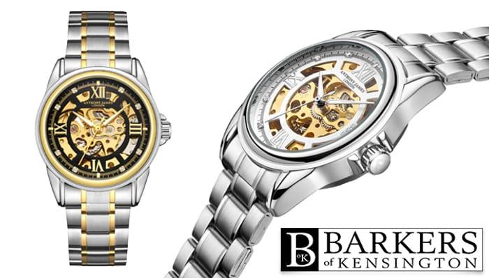 Hand Assembled Men's Skeleton Watch - £31.99 Delivered