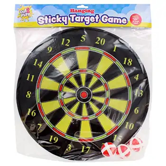 Out 2 Play - Black Hanging Sticky Target Game