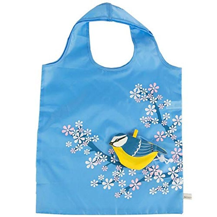 CHEAP! Eco Friendly Foldable Shopping Bag - Blue Bird FREE DELIVERY