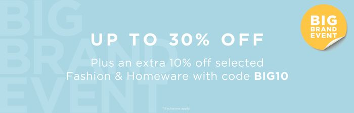 Extra 10% off Selected Big Brand Products