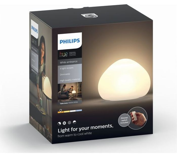 CHEAP! *SAVE over £20* PHILIPS Hue White Ambience Wellner Smart Table Lamp