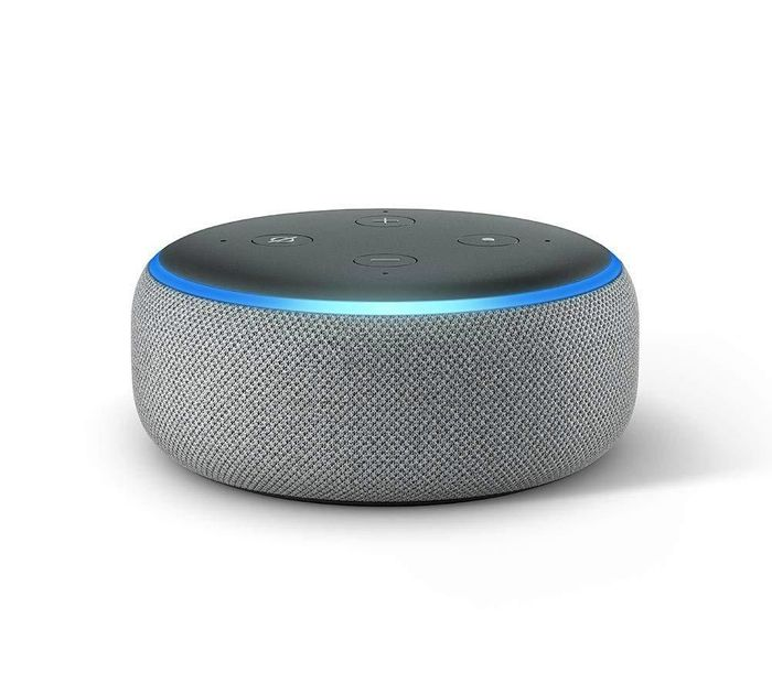 AMAZON Echo Dot (2018) - Heather Grey - Only £24.98!