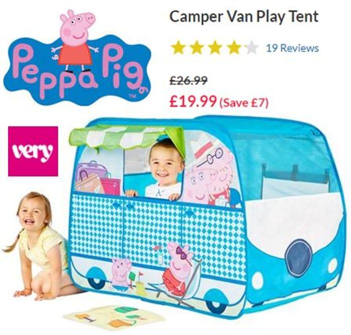 SAVE £7 - Peppa Pig Camper Van Play Tent